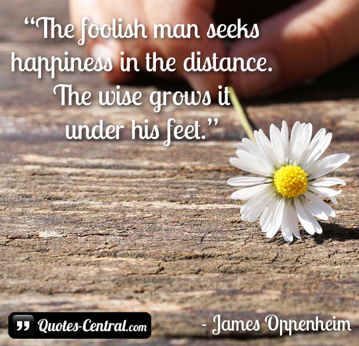 Foolish Man Seeks Happiness in the Distance