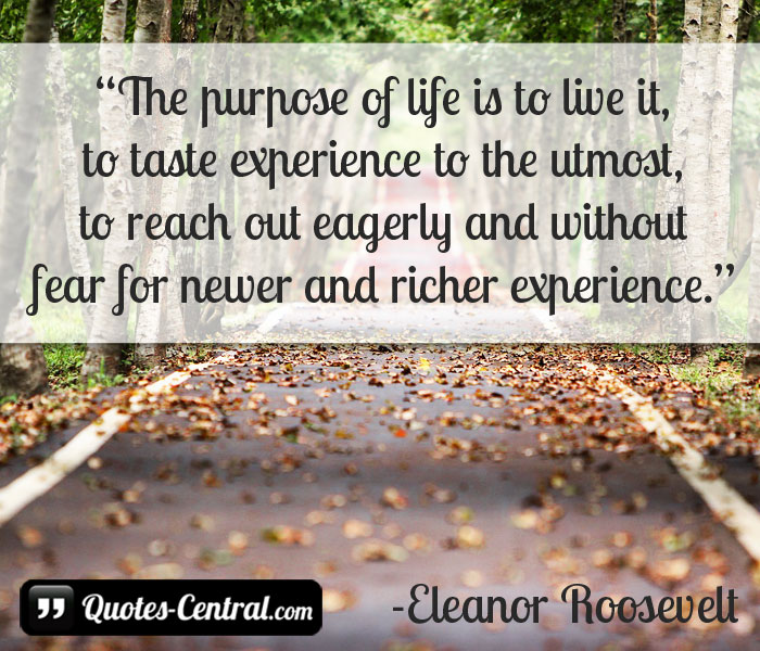 the-purpose-of-life-is-to-live