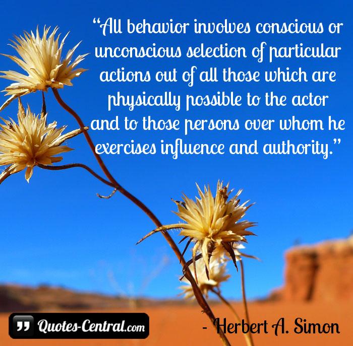 all-behavior-involves-conscious-or