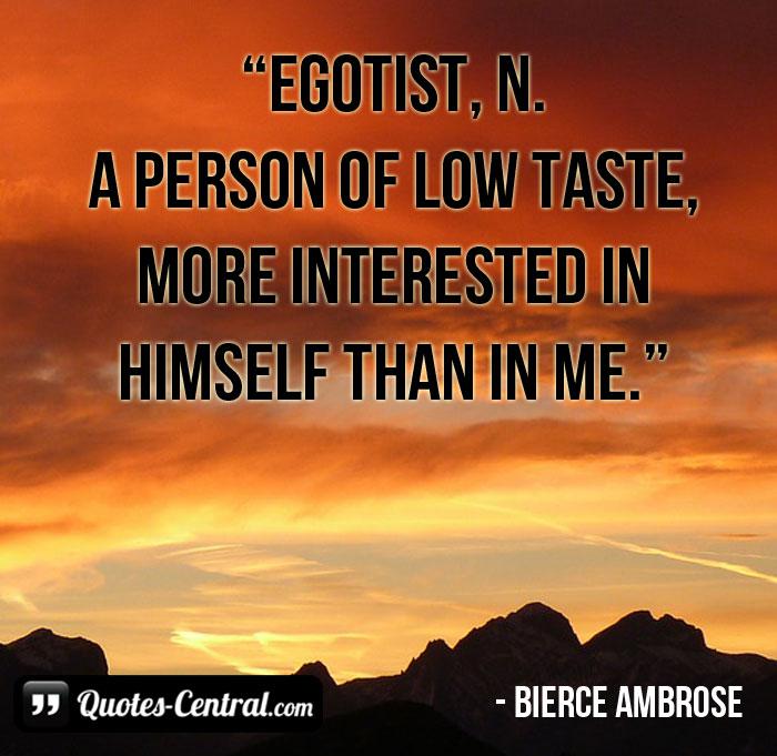 egotist-a-person-of-low-taste