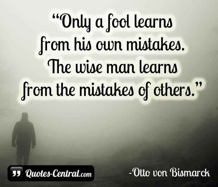 only-a-fool-learns-from