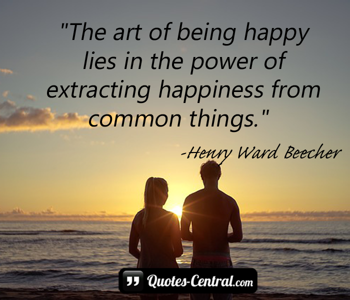 the-art-of-being-happy-lies-in